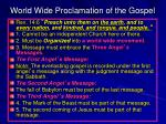 world wide proclamation of the gospel