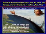 worship him that made heaven and the earth and the sea and the fountains of waters rev 14 7