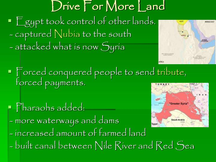 Drive For More Land