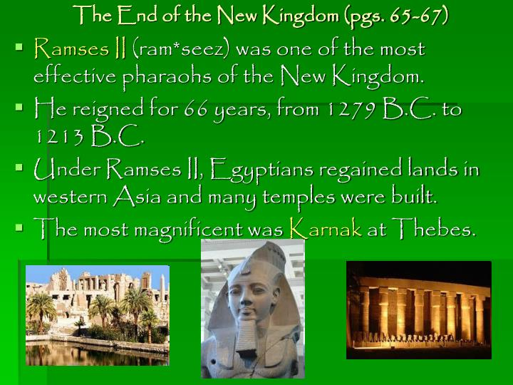 The End of the New Kingdom (pgs. 65-67)