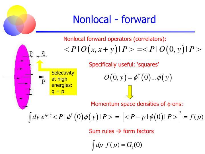 Nonlocal - forward