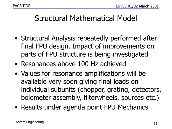 Structural Mathematical Model