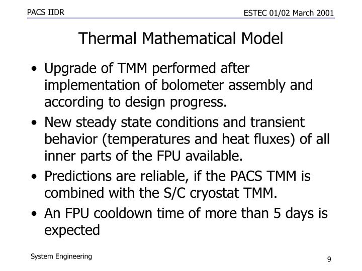 Thermal Mathematical Model