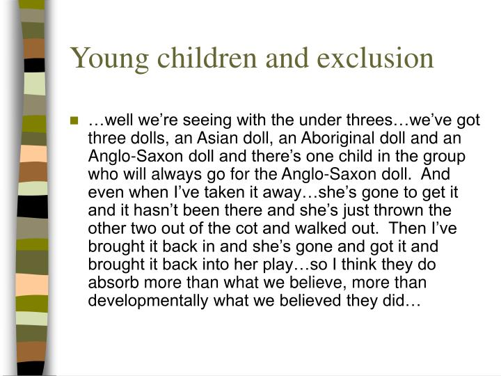Young children and exclusion