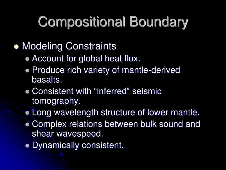 Compositional Boundary