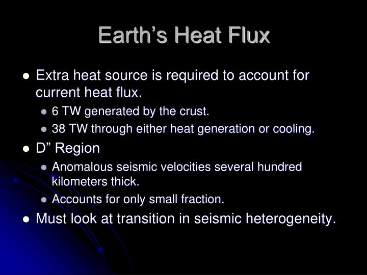 Earth's Heat Flux
