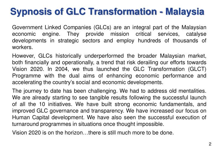 Are malaysian government linked companies glcs
