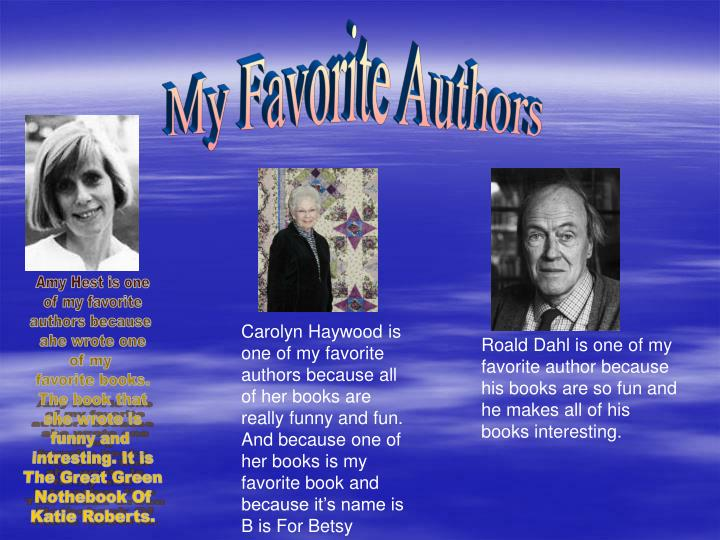 My Favorite Authors