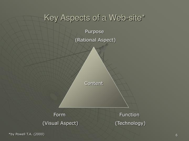 Key Aspects of a Web-site*