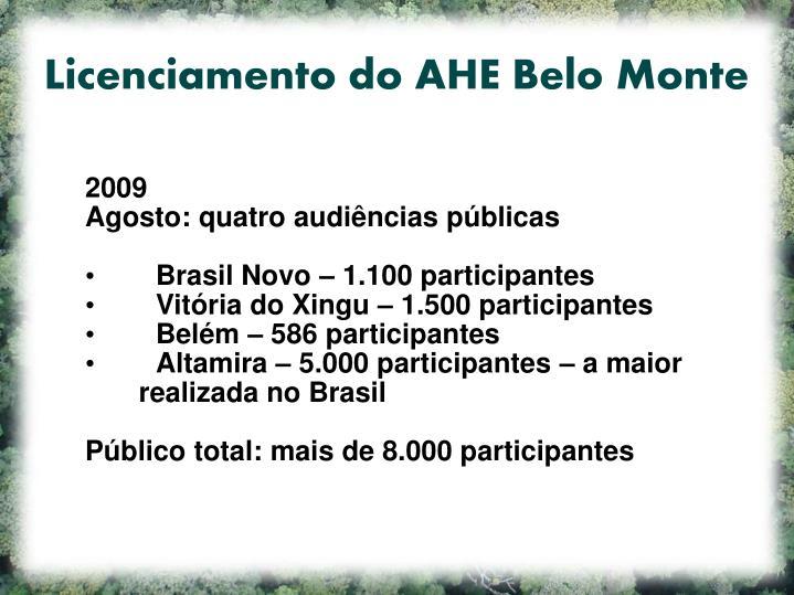 Licenciamento do AHE Belo Monte