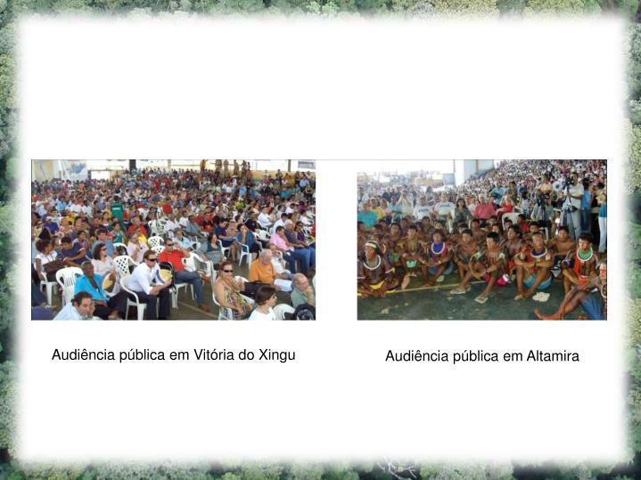 Audiência pública em Vitória do Xingu