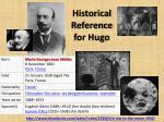 historical reference for hugo