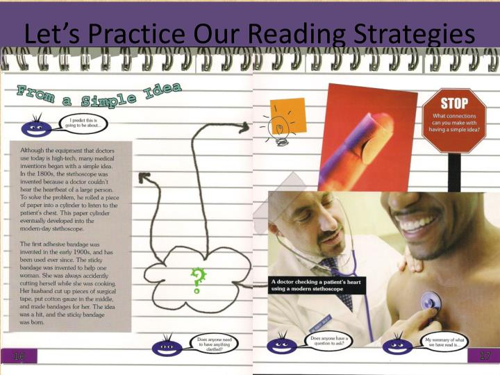 Let s practice our reading strategies