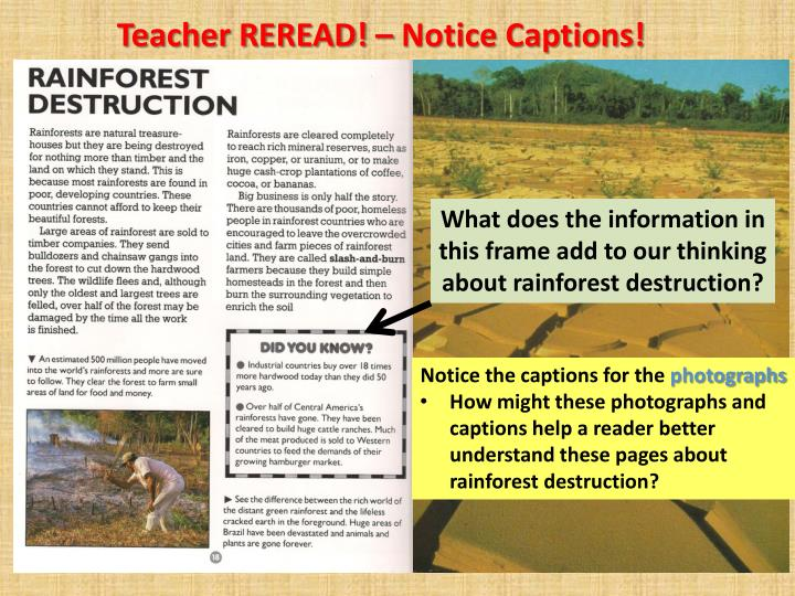 Teacher REREAD! – Notice Captions!