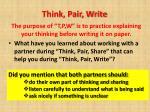 think pair write