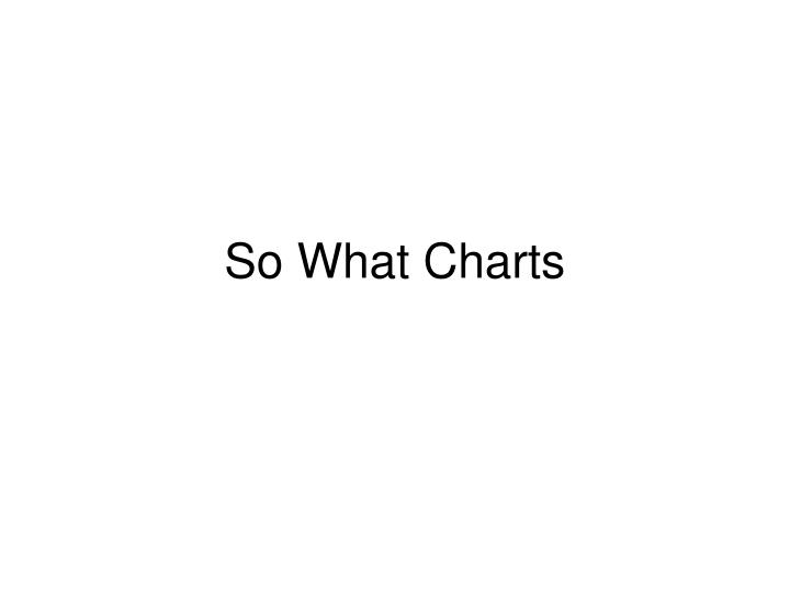 So What Charts