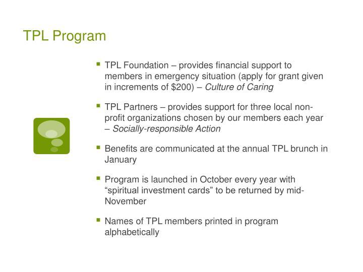 TPL Program