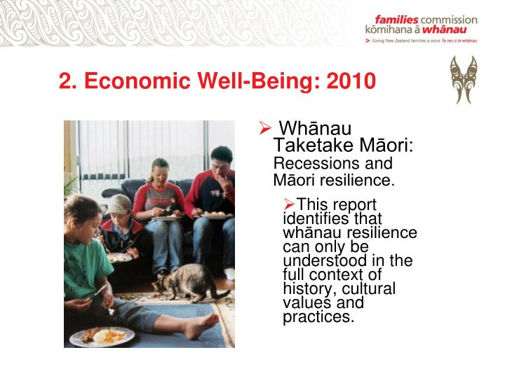 2. Economic Well-Being: 2010