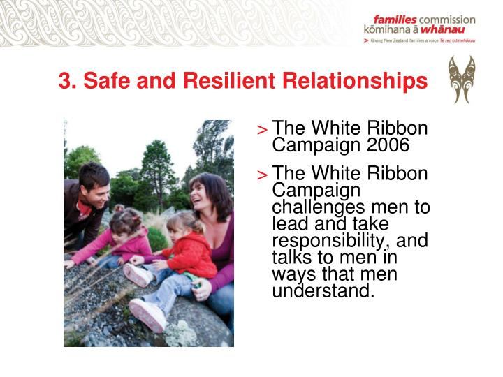 3. Safe and Resilient Relationships