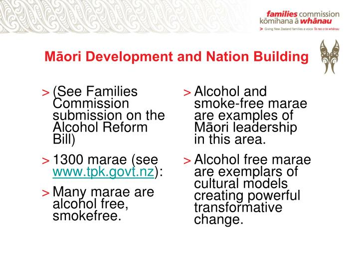 Māori Development and Nation Building