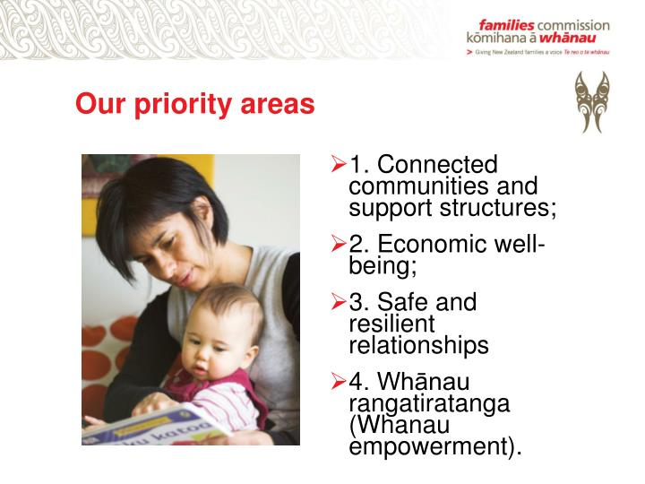 Our priority areas