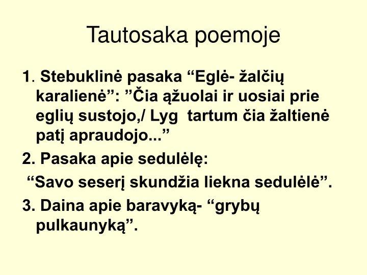 Tautosaka poemoje
