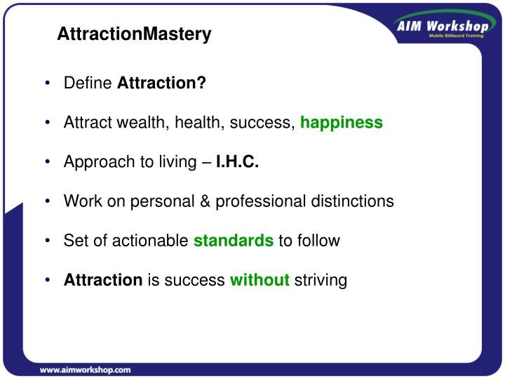 AttractionMastery