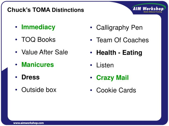 Chuck's TOMA