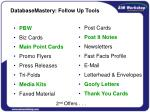 databasemastery follow up tools