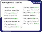 intimacy building questions
