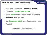 make the best out of salesmastery