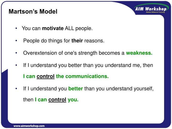 Martson's Model