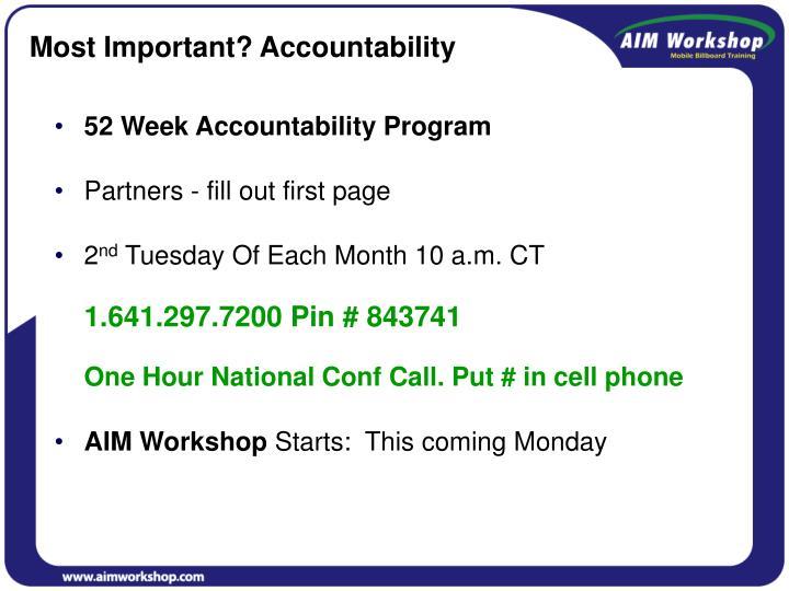 52 Week Accountability Program