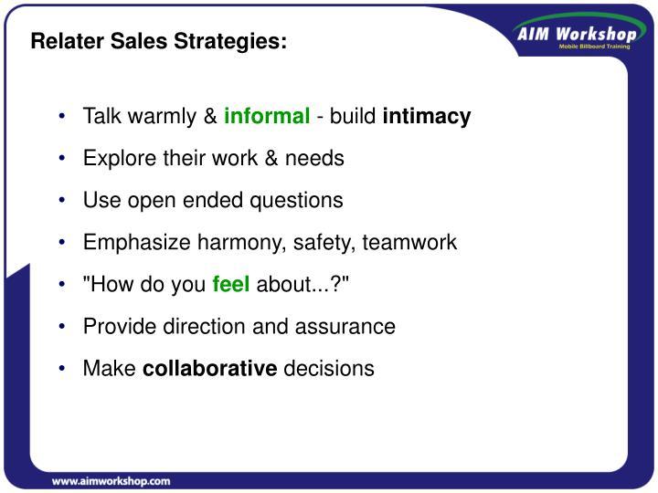 Relater Sales Strategies: