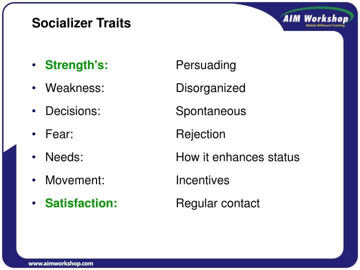 Socializer Traits