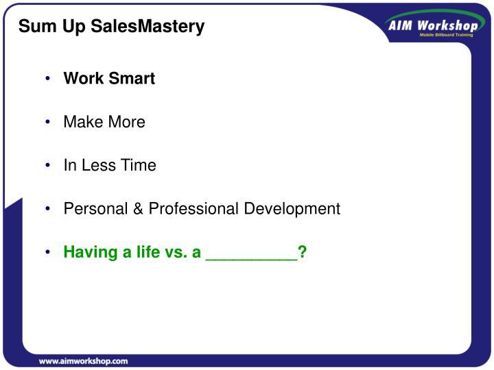 Sum Up SalesMastery