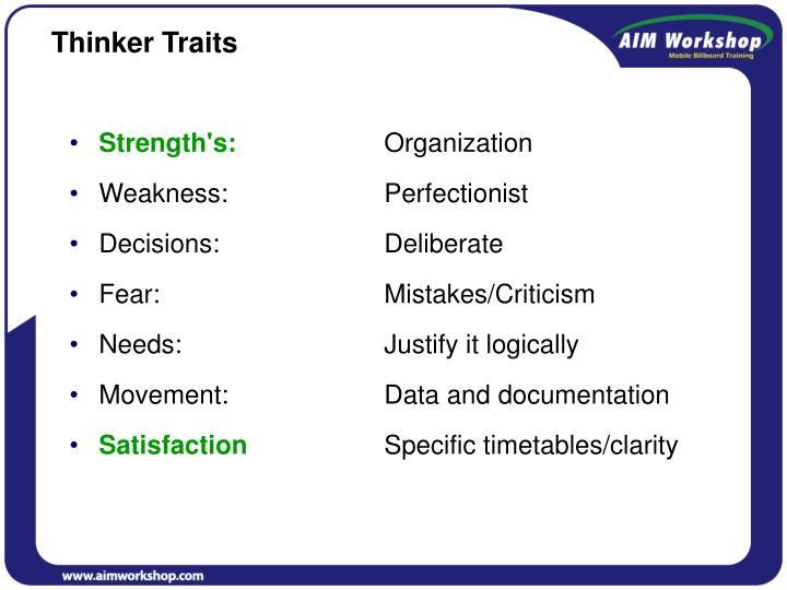 Thinker Traits