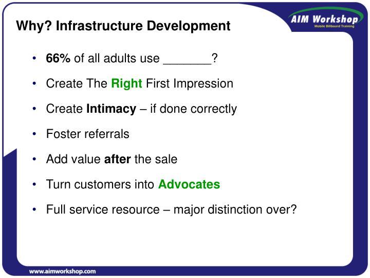 Why? Infrastructure Development