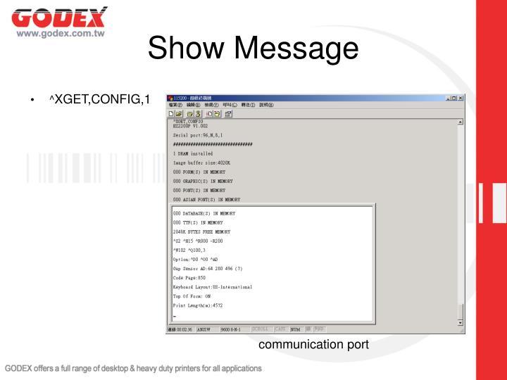 Show Message