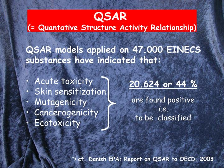 QSAR models applied on 47.000 EINECS