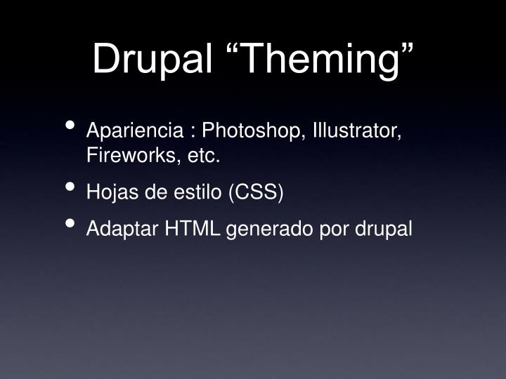 Drupal theming1