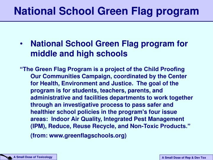 National School Green Flag program