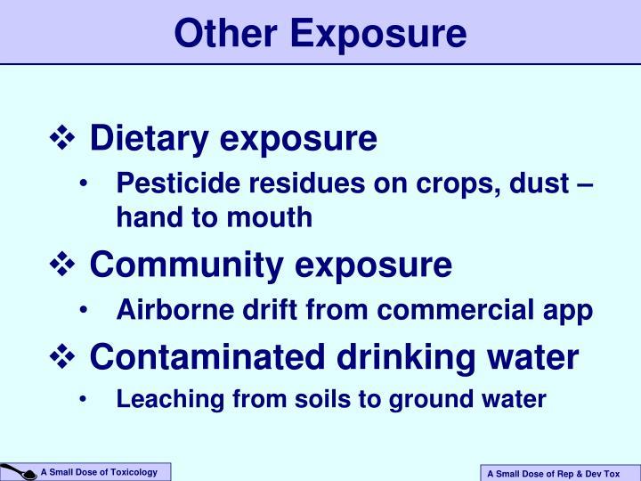 Dietary exposure