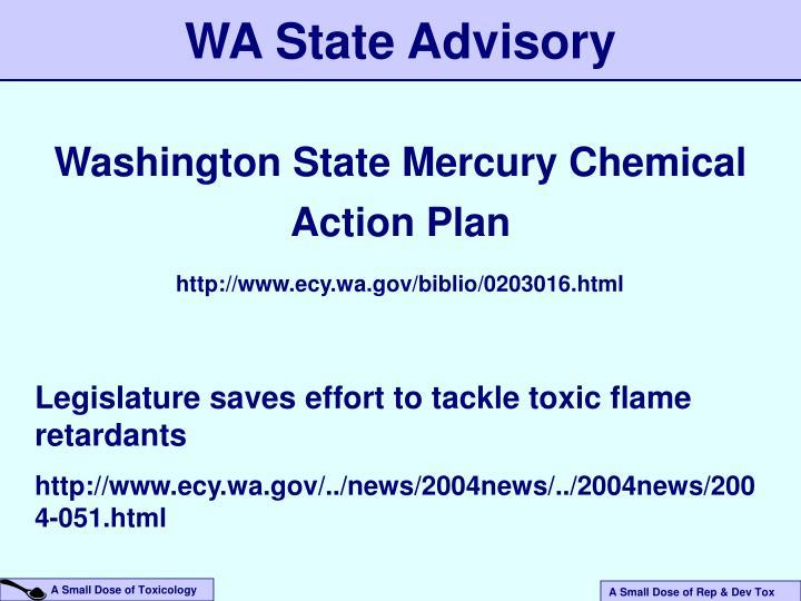 WA State Advisory