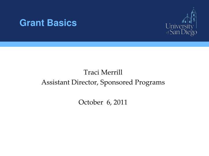 Grant Basics