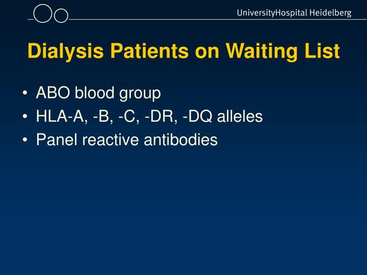Dialysis Patients on Waiting List