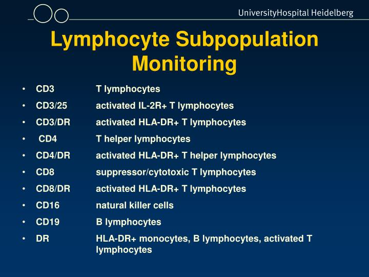 Lymphocyte Subpopulation Monitoring