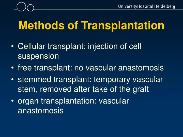 Methods of Transplantation