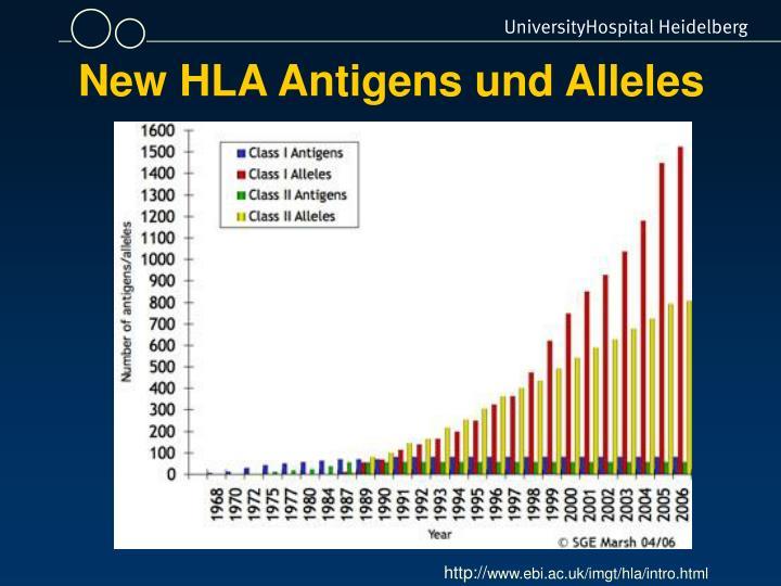 New HLA Antigens und Alleles