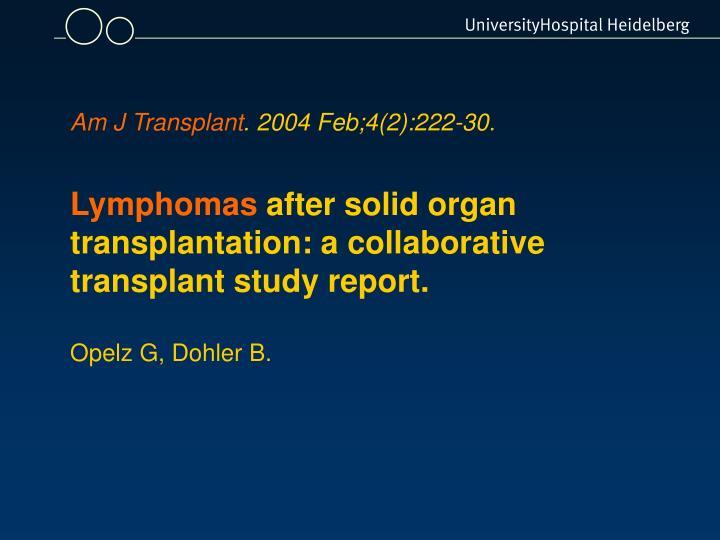 Am J Transplant